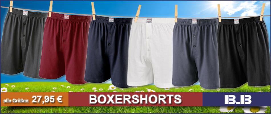 Boxershorts große Größen